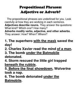 Superhero Phrases!