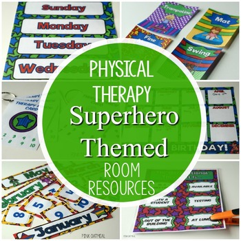 Superhero Physical Therapy Room Resources Pack