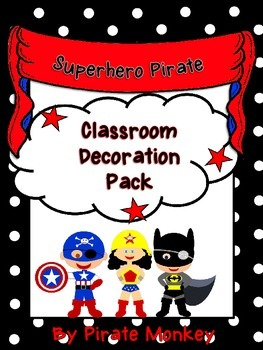 Superhero Pirate Squad Decor
