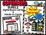 Superhero Place Value Center with Boom Learning Cards