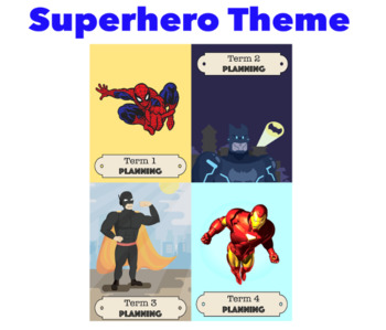 Superhero Planner Book Cover