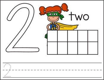 Superhero Playdoh Number Mats 0-20