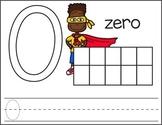 Superhero Playdoh Number Mats 0-20