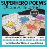 Superhero Poetry Pack   Character Trait Literacy Activities