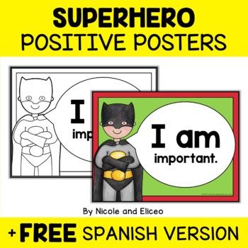 Superhero Positive Affirmation Posters