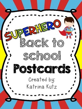 Superhero Postcards
