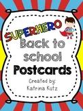 Superhero Postcards