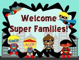 Superhero Powerpoint **Perfect For Open House or Meet the Teacher **EDITABLE