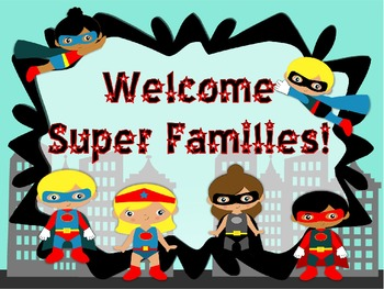 Superhero Powerpoint **Perfect For Open House or Meet the