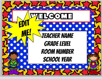 Superhero Powerpoint // Superhero Back to School Powerpoin