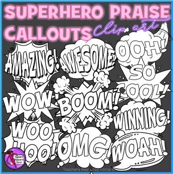 Superhero Praise Call-Out Clip Art