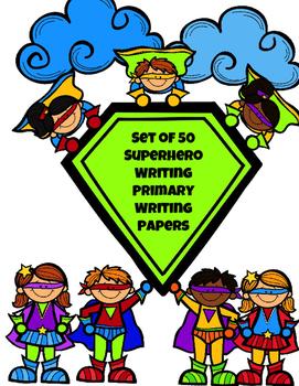 Superhero Primary Writing Paper