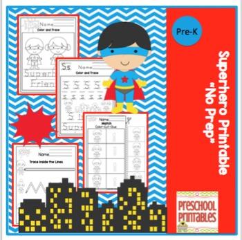 "Superhero Printable ""No Prep"""