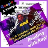 Superhero Problem and Solution Reading Passage Activities, Google Forms ELA