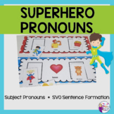Superhero pronouns for Speech Therapy