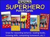 Superhero Punch Cards