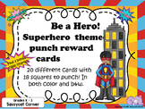 Superhero Punch Cards for For Big Kids (grades 3 - 6)