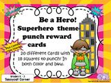 Superhero Punch Cards for PreK - 3