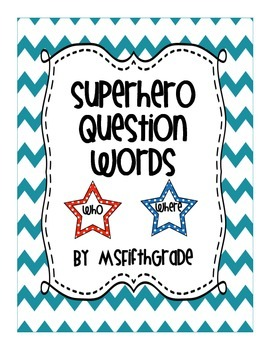 Superhero Question Words