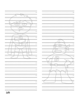 Superhero Quickword Cursive Dictionary Word Wall List