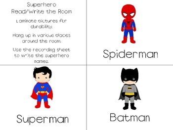 Superhero Read and Write the Room