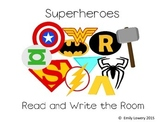 Superhero Read and Write the Room