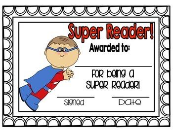 Superhero Reader Award