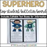 Superhero Top Student Bulletin Board