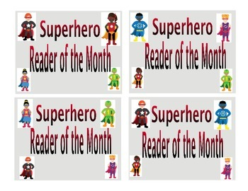 Superhero Reader of the Month