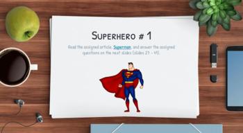 Superhero Reading Activities: Comic Book Nonfiction Reading Passages