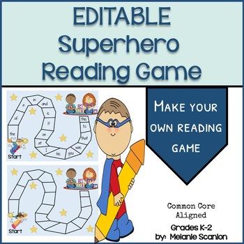 Superhero Reading Game