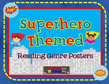 Superhero Reading Genre Posters