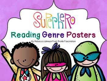 Superhero Reading Genre posters