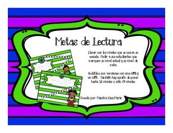 Superhero Reading Goals! - Metas de Lectura en español