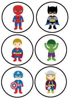 Superhero Reading Group Labels
