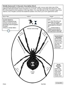 Superhero Reading HW & Activity Sheet #4: Character Description