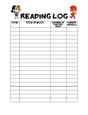 Superhero - Reading Log