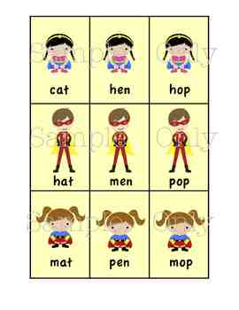 Superhero Reading Set:  Sight Words and Word Families