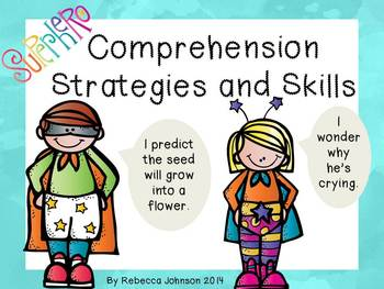 Superhero Reading Strategies and Skills posters
