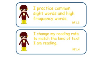 Superhero Reading Strategy Cards (Common Core Aligned)