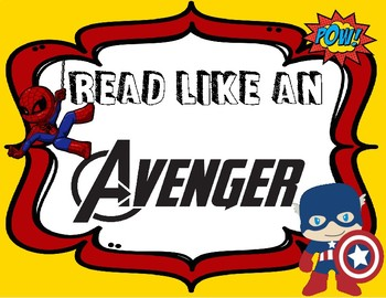 Superhero Reading Strategy Posters