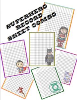 Superhero Record Sheets Combo