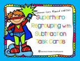Superhero Regrouping with Subtraction Task Cards