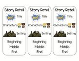 Superhero Retelling Bookmarks (Super Hero Retelling Bookmarks)