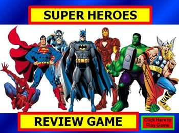 superhero review game template powerpoint by bethany silver tpt