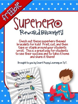 Superhero Reward Bracelets