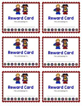Reward Card {Superhero}