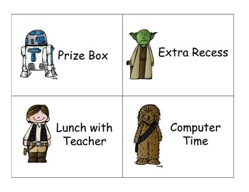 Star Wars Reward Cards
