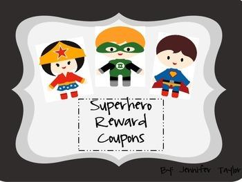 Superhero Reward Coupons