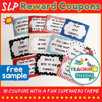 Superhero Reward Coupons (Freebie!)